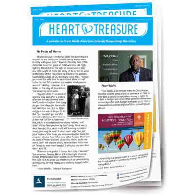 Heart and Treasure newsletter